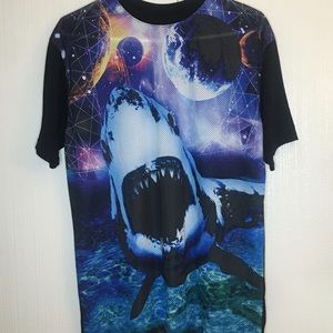 Chemistry clothing all over printed Shark T Size L